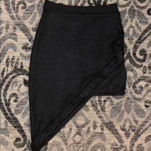 Mini skirt asymmetrical
